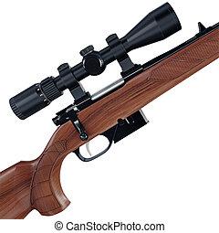 Huntsman sniper gun - Side shot of an old fashioned sport...