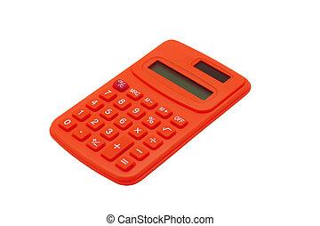 計算, 白色, 被隔离, 紅色