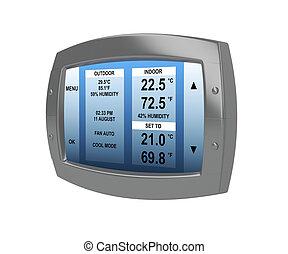 Programmable digital thermostat - Black programmable digital...