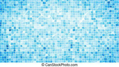 digital animation of swimming pool bottom caustics ripple and flow with waves movement  background, loop seamless. 4K and 1080 resolution