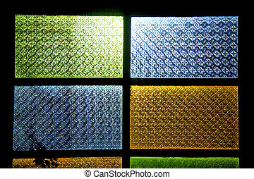 colorated glass sun in window and light - colorated glass...