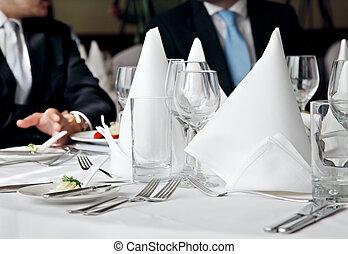 negócio, almoço, reunião