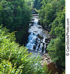 Corra Linn waterfall Clyde Valley