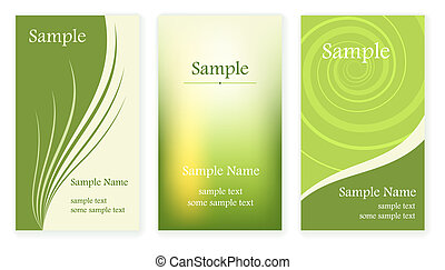 Business cards - Set of business cards templates Vector...