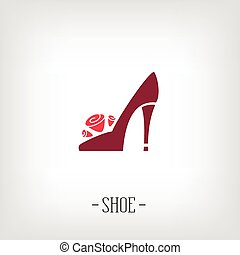 Stylized womens shoes. Logo shoe store. - Stylized womens...