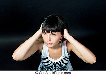 young beautyful girl - sensual sexy young caucasian girl...