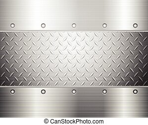 diamond plate background - Pattern of metal texture...