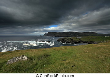 The coast of Glen Head in Ireland