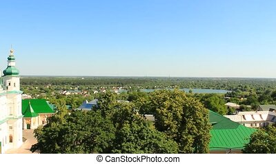 Troitskyi monastery in Chernihiv bird's-eye view - landscape...