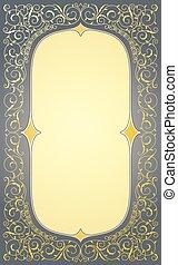 Floral gold decorative frame
