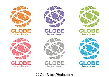 Abstract earth logo Globe logo icon - Vector abstract earth...