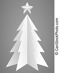 Christmas tree from hard white paper
