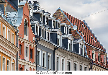Riga Latvia - Old town architecture in the baltic city of...