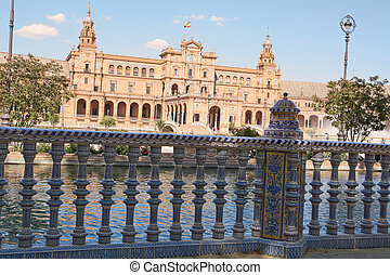 Plaza de Espana in the centre of Seville in Spain
