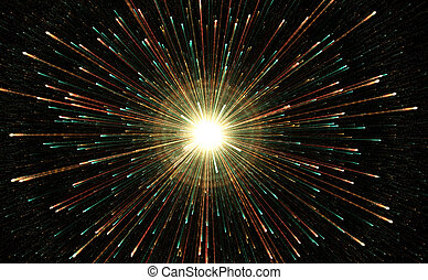 Star explosion with particles