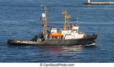 Rescue Boat in Marmara Sea, Istanbul City