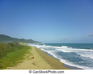 Beach of Tayrona National Park in Colombia