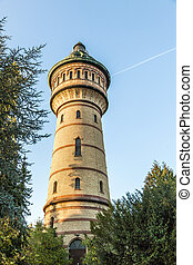 water tower in Wiesbaden Biebrich - famous water tower in...