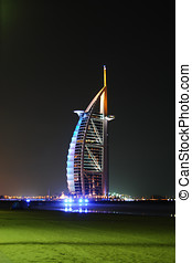 Burj Al Arab night shot.