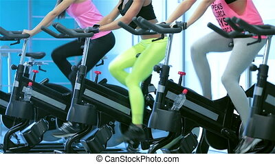 Fitness classes at the gym