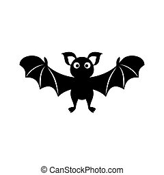 Black-vector-cute-bat-silhouette-icon-halloween-illustration.eps