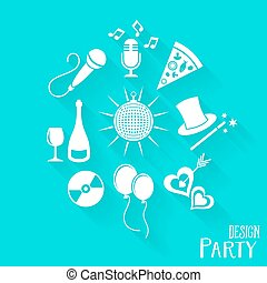 Party-and-entertainment-icons-set-vector-illustration