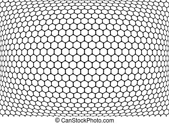 Hexagons pattern. Abstract textured latticed background. -...