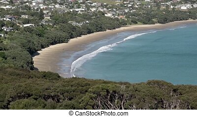 Coopers beach Northland New Zealand - Aerial view of Coopers...