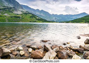 Clean lake in the mountains - Clean lake in the Tatra...