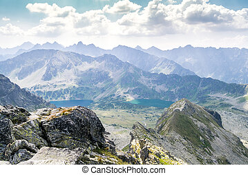 Beautiful landscape of Tatra Mountains National Park, Poland