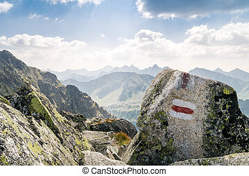 Trail in beautiful mountains - Trail in beautiful Tatra...