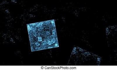 Ice cube. - HD abstract fractal art transformation...