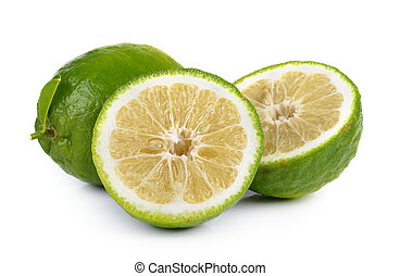 Citrus medica Linn on white background
