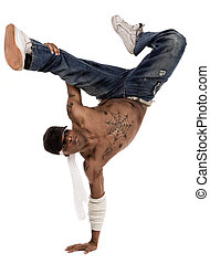 hip-hop dancer during his practice session - hip-hop dancer...