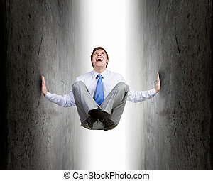 Pressured with circumstances - Businessman under pressure...