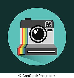 old style photograph design, vector illustration eps10...
