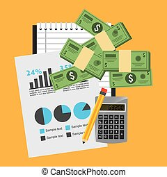 monetary affairs design, vector illustration eps10 graphic