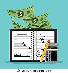 monetary affairs design, vector illustration eps10 graphic