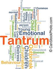 Tantrum background concept - Background concept wordcloud...