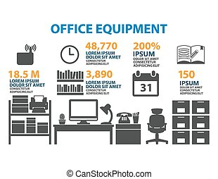 Office icon Set Infographic