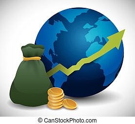 Global economy design - Global economy design, vector...