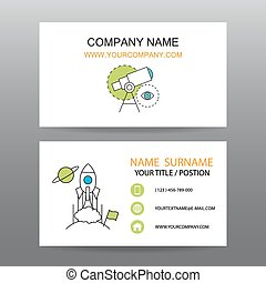 Business card vector background, Vision business