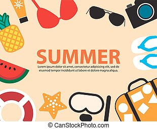 travel summer holiday beach side,vector background