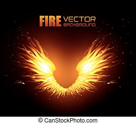 Fire digital design. - Fire digital design, vector...