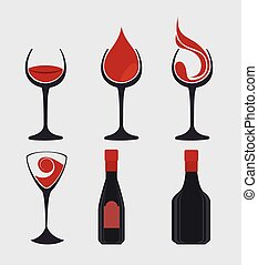 Wine digital design. - Wine digital design, vector...