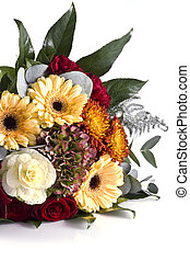 Bunch of flowers - Bouquet of flowers isolated on white