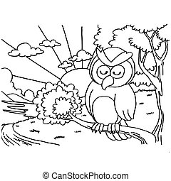 Owls Coloring Pages vector - image of Owls Coloring Pages...