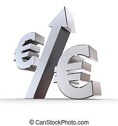 Shiny Euro Percentage Up