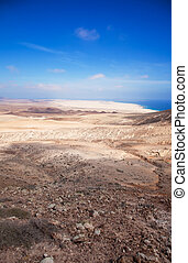 Northern Fuerteventura, view north from Montana Roja Red...