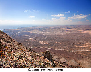 Northern Fuerteventura, view south from Montana Roja (Red...